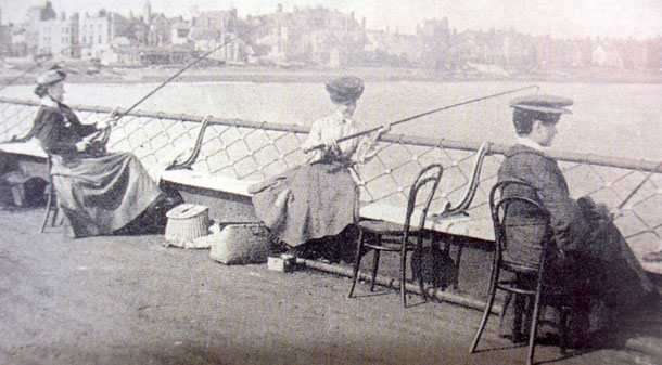The ladies fishing on Deal Pier circa 1903