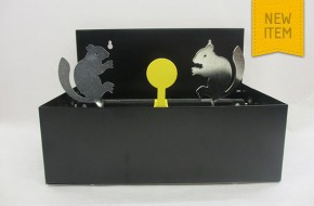 Double Squirrel knockdown target