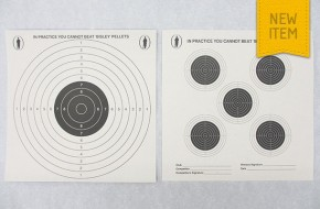 Double sided black & white paper targets