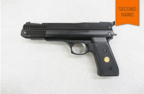 "Woody's are pleased to be able to offer this exceptionally clean example of a British made .22 caliber Webley ""Nemesis"" single stroke pneumatic recoiless pistol. £110 – 00 inc 3 month guarantee"